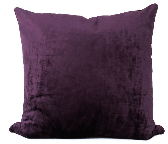 Plum Velvet Decorative Pillows By Avosetta Home