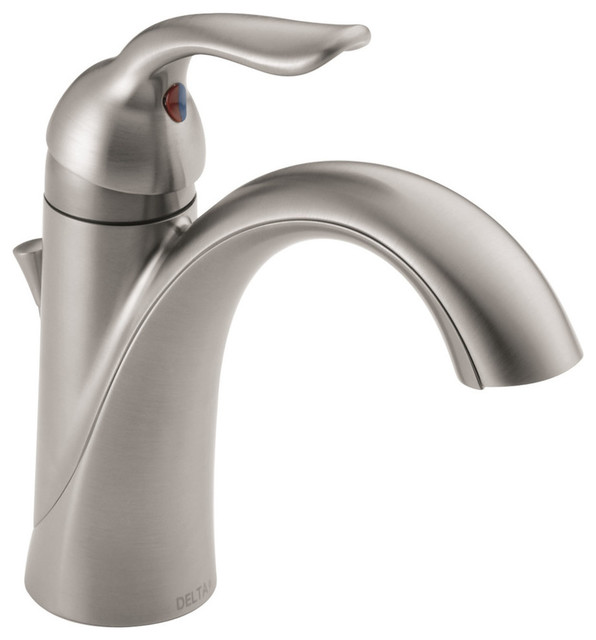 Delta Lahara Single Handle Bathroom Faucet Transitional Bathroom Sink Faucets By The Stock Market Houzz