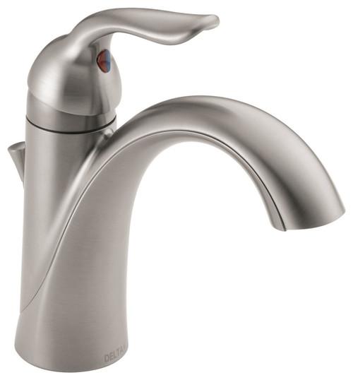 Delta Lahara Single Handle Bathroom Faucet, Stainless, 538-SSMPU-DST