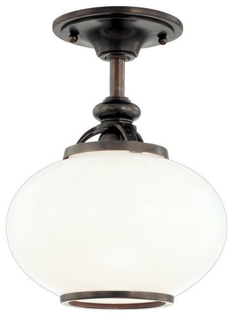 Hudson Valley Lighting Canton Old Bronze Semi Flush W/ 1 Light 100w - 9809f-Ob.
