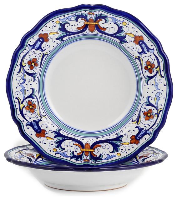 Mediterranean Style Dinnerware: Vecchia Deruta, Pasta/Soup Bowl