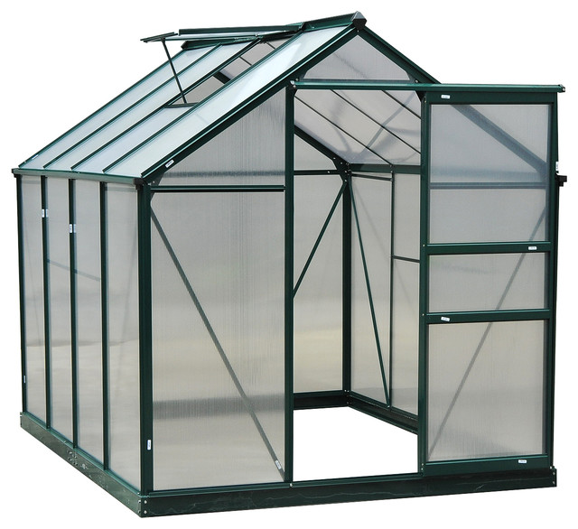 Outsunny 6x8x7 Polycarbonate Portable Walk-In Garden Greenhouse.