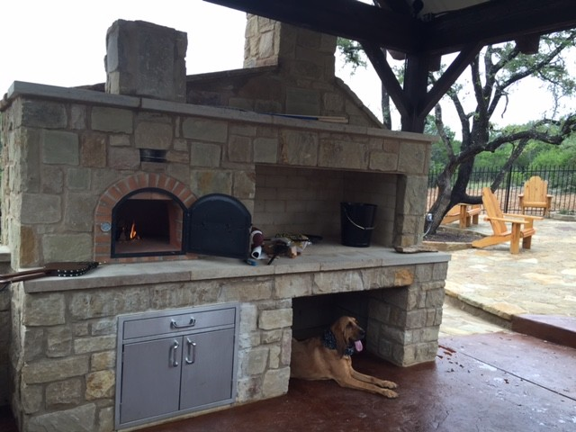 Outdoor Wood Fired Pizza Oven Stone Outdoor Fireplace