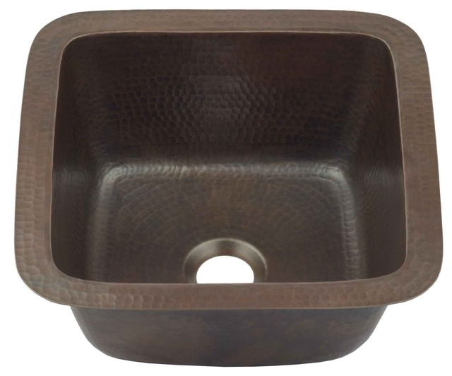 Pollock 12 Undermount Copper Bar Prep Sink