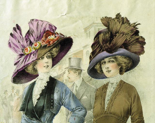 Svenska: Mode. Hattar. Modeplansch från 1911.