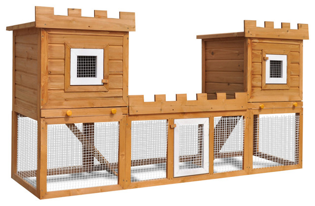 Vidaxl Outdoor Large Rabbit Hutch House Pet Cage Double Transitional Small Supplies By Vida Xl International B V