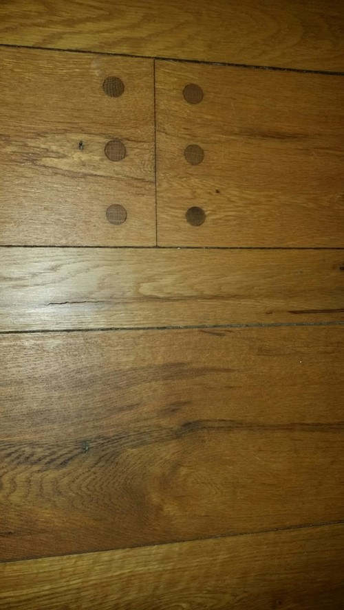 Vintage Oak Floor With Pegs And French Bleed Edge
