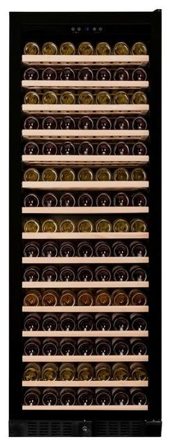 Dunavox 194 Bottle Built In Single Zone Wine Cooler, Black