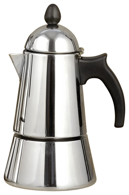 Konica Stainless Steel Stove Top, Espresso Maker, 6 Cups