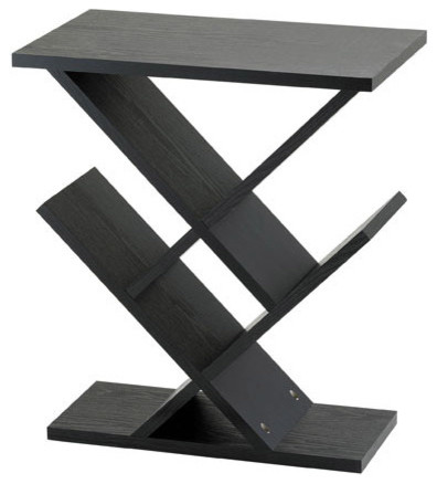 Superior Adesso WK4614 01 Zig Zag Accent Table Black Contemporary Side Tables