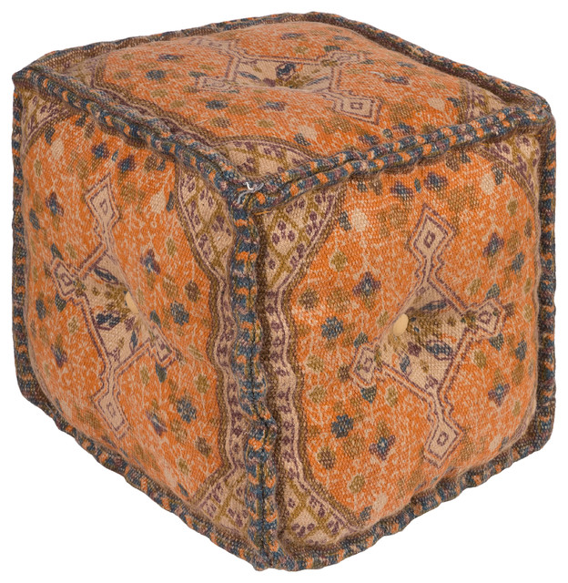Surya Shadi Woven Cube Pouf - Mediterranean - Floor Pillows And Poufs - by GwG Outlet