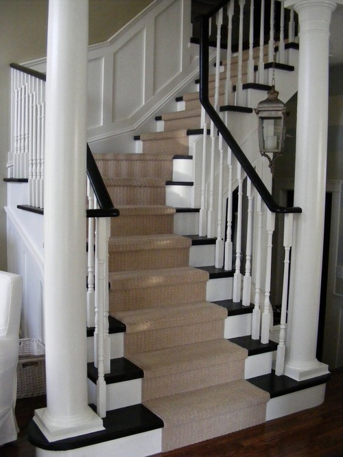 classic stairs with panelling traditional staircase
