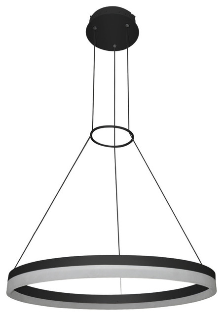 Tania Adjustable LED Chandelier Black Modern Chandeliers by