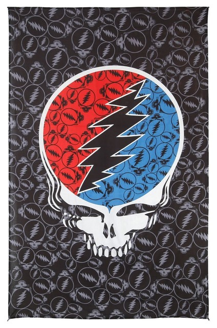 Grateful Dead Steal Your Face Huge Tapestry Wall Art Beach Sheet 52 ...