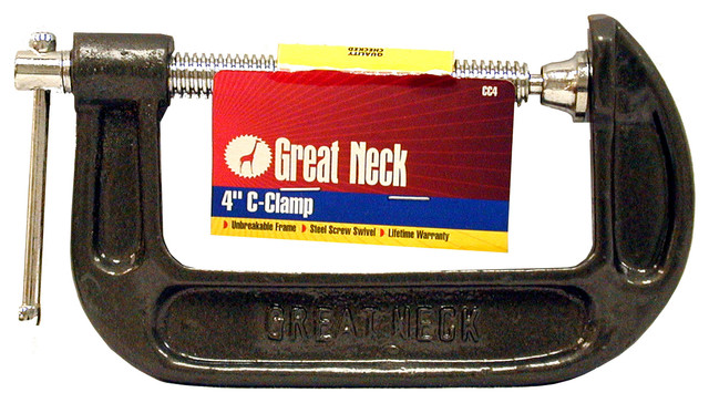 Great Neck 4 Adjustable C Clamps.