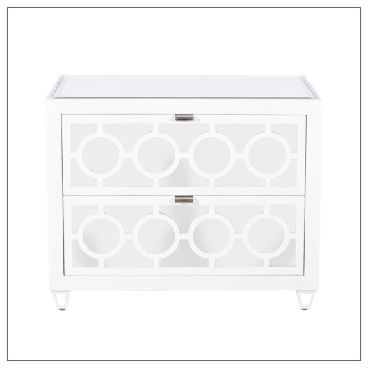 lucia mirrored bedside table with 3 drawers ebay worlds away nightstand white contemporary nightstands tables next