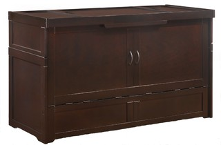 Murphy Cube Cabinet Bed Queen With Mattress - Transitional ...