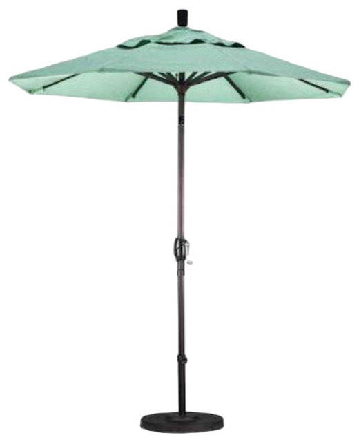 California Umbrella Aluminum Market Umbrella Push Tilt, Bronze, Sunbrella.