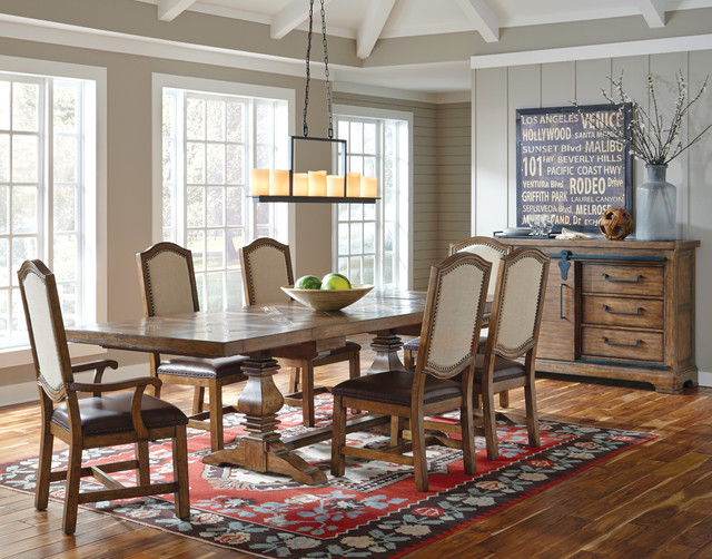 El Dorado Furniture Accessories American Attitude Dining Set Farmhouse Room
