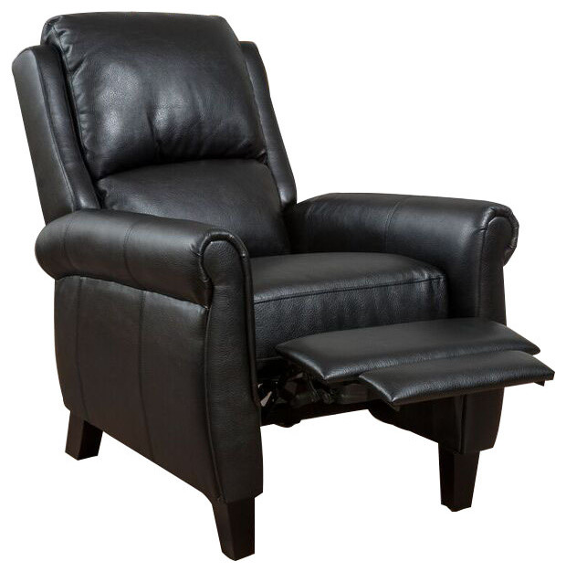 black leather recliner armchair lloyd black leather recliner club chair contemporary 11223 | contemporary recliner chairs