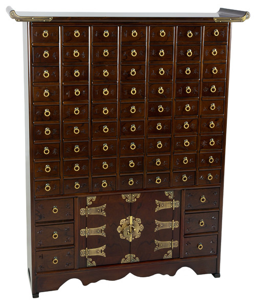 Korean Antique Style�63 Drawer Apothecary Chest