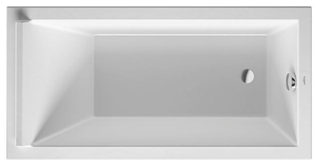 "Duravit Starck Soaking Bathtub White Alpin, 59""x29.5""x20"", 700332000000090."