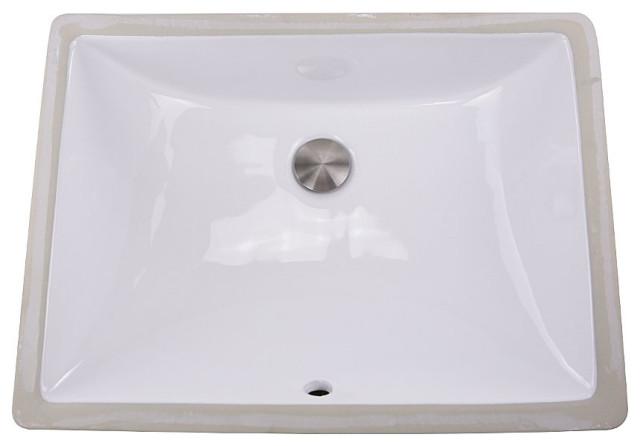 Nantucket Sinks Um 18x13 W 18 Inch X 13 Inch Undermount Ceramic Sink In White Contemporary Bathroom Sinks By Nantucket Sinks