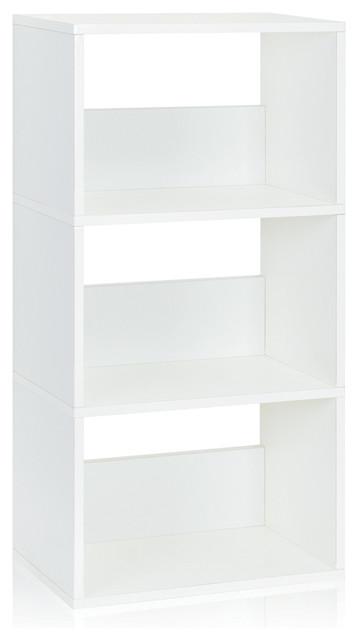 Eco Triplet 3 Shelf Bookcase Cubby Bookshelf Non Toxic Z