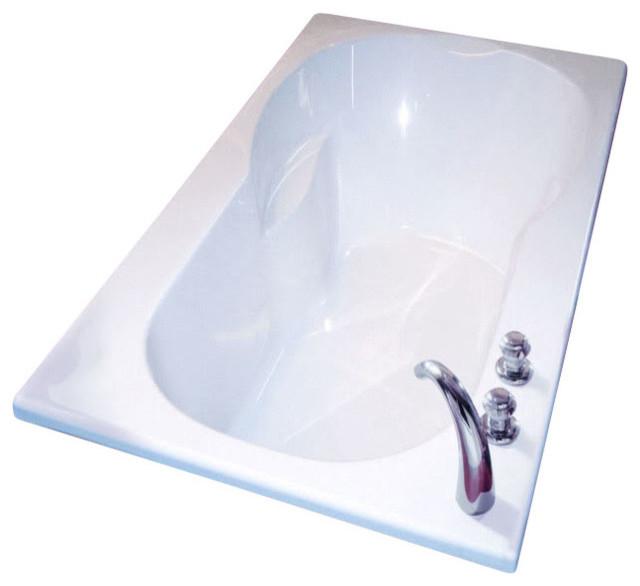 "60""x34"" Julia Rectangular Drop-In Bathtub, Whirlpool And Mass-Air."
