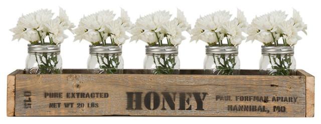Centerpiece Box With Vintage Honey Stamp