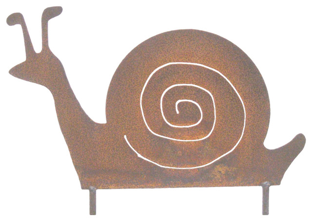 Large Snail Rusted Metal Garden Art Sculpture Rustic Garden Statues And Yard