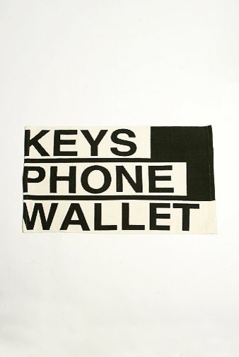 Phone Keys Wallet Rug