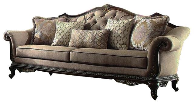 Homelegance Bonaventure Park Sofa In Brown Chenille Victorian Sofas By Beyond S