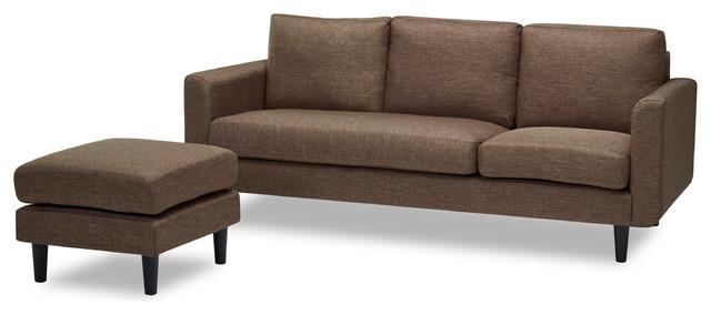 Everett Convertible Sofa And Ottoman, Ceramic