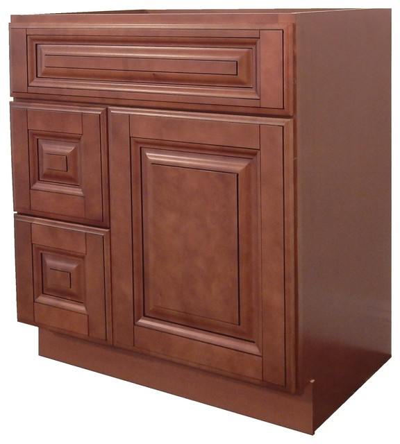 30 Maple Bathroom Vanity ngy bathroom vanity cabinet coffee glaze - modern - bathroom