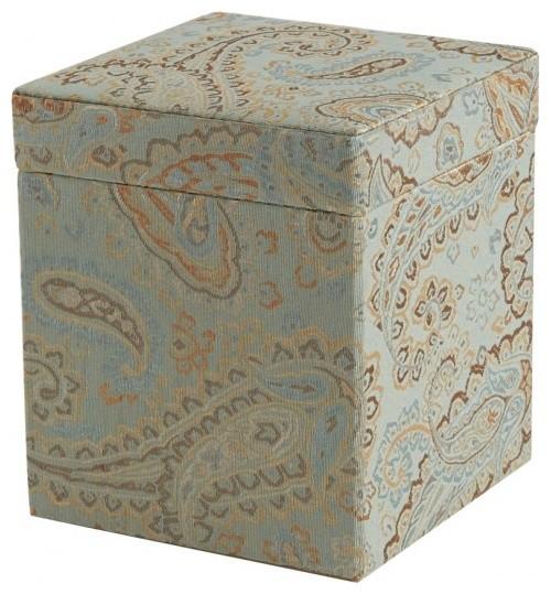 faye fabric covered storage box medium traditional