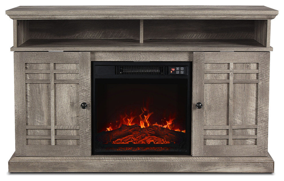 Belleze Electric Fireplace Tv Stand
