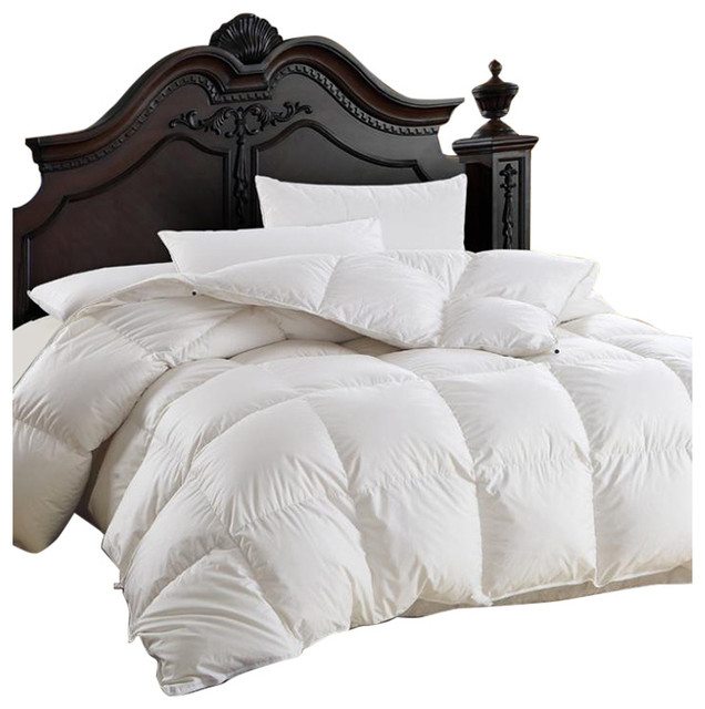 Luxurious Siberian Goose Down Comforter 600 Thread Count 750FP, Twin