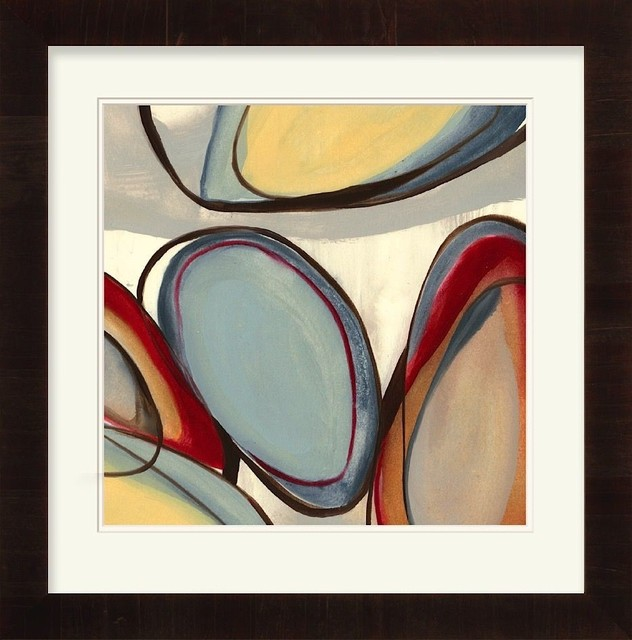 Contemporary Wall Art Decor contemporary wall decor rectangle blue-red wall art - contemporary