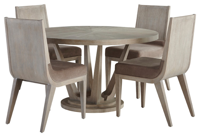 Palliser Furniture Alexandra 5 Piece Dining Set Round Table 4 Side Chairs Farmhouse Dining Sets By Palliser Furniture