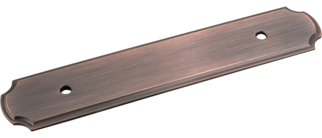 Cabinet Pull Backplate, Brushed Oil Rubbed Bronze - Traditional - Cabinet And Drawer Hardware ...