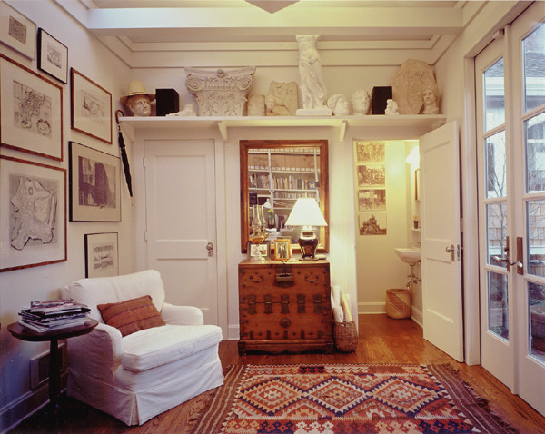 Inspiration for a craftsman home office remodel in Seattle