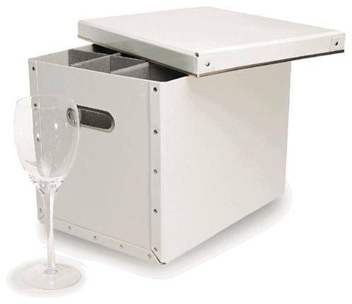 Stemware Storage Box Tall White  sc 1 st  Houzz & Stemware Storage Box Tall White - Contemporary - Dinnerware And ...