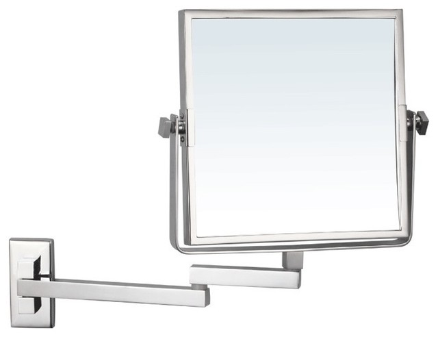 Wall Mount Makeup Mirror wall mounted double face magnifying mirror - contemporary - makeup