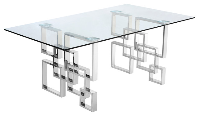 Wiltern Dining Table, Chrome.