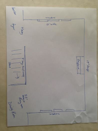 Furniture Arrangement For Long Narrow Living Room With Two Entrances