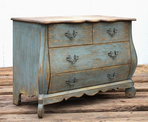 42 Primo Belle Cabinet Circa Reclaimed Solid Pine Wood Antique Washed Blue Red