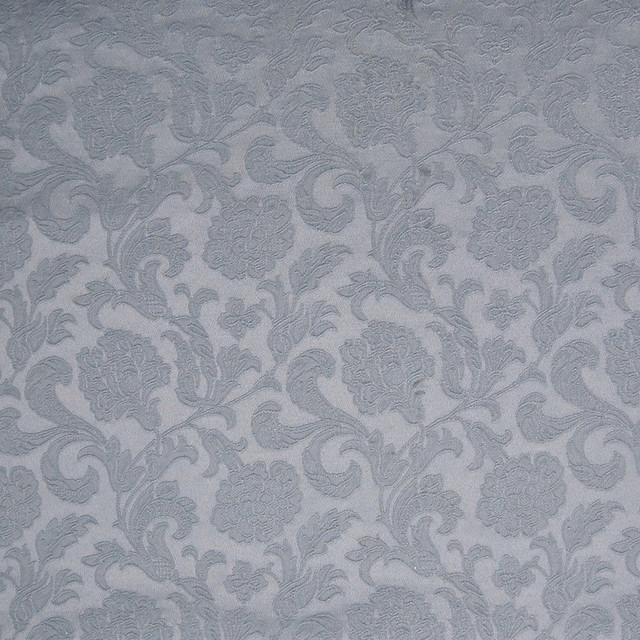 Sailboat Blue Gray Damask Fl Jacquar Upholstery Fabric By The Yard