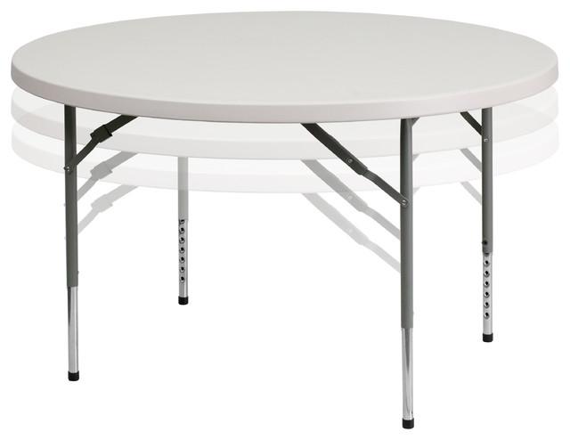 48 39 39 round height adjustable granite white plastic folding - Plastic folding dining table ...