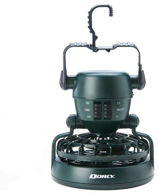 2-Speed Rotating Fan, LED Light, Green Finish